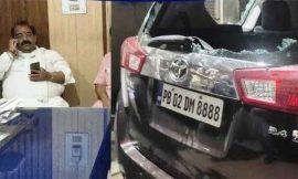 फिरोजपुर मे भाजपा अध्यक्ष अश्वनी शर्मा की गाड़ी पर डंडों से हमला, किसानों ने किया जोरदार विरोध