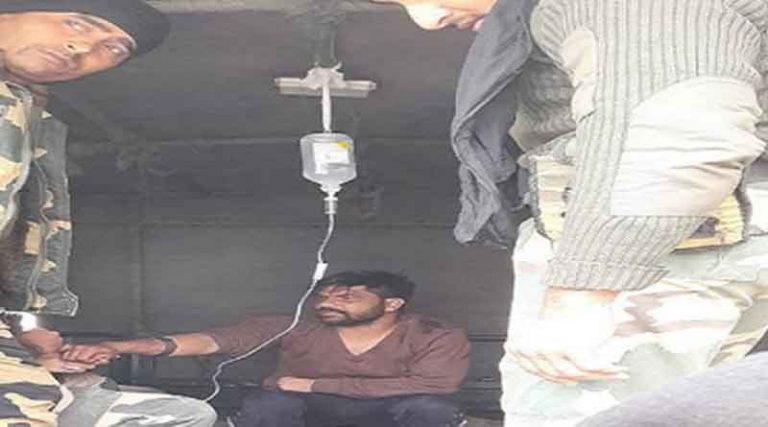 भारत-पाक बार्डर पर बीएसएफ ने पकड़ा कुख्यात तस्कर मनदीप सिंह, गोली से हुआ घायल, अस्पताल में भर्ती