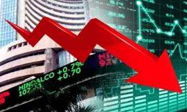 शेयर बाजार में आई हफ्ते के आखिरी दिन आई बड़ी गिरावट, 1500 अंक गिरा सेंसेक्स