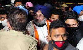 धरने पर बैठे सुखबीर बादल, कांग्रेसी विधायक पर लगाया हमले का आरोप, एसएचओ पर मामला दर्ज करने की मांग