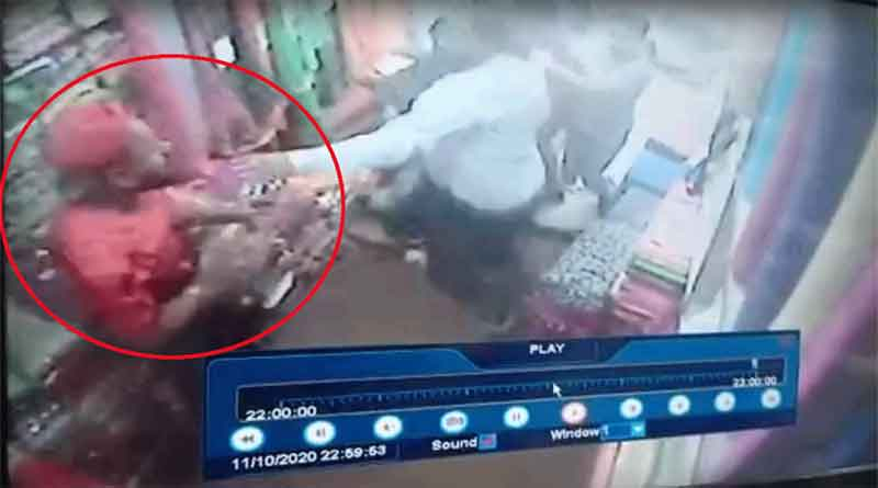 जालंधर के पीर बोदला बाजार में दुकानदार पर हमला, सीसीटीवी कैमरे में कैद हुई घटना