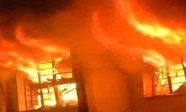 बीएमसी चौक के पास स्थित मोबाइल रिपेयर इंस्टीट्यूट की छत पर कूड़े को लगाई आग, लोगों ने बुला ली फायर ब्रिगेड