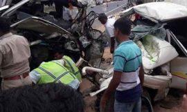जोधपुर में मिनी बस व ट्रेलर में भयानक टक्कर, 5 लोगों की मौत, मुख्यमंत्री ने जताया शोक