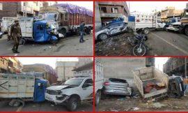 जम्मू में बेकाबू ट्रक ने एक दर्जन गाड़ियों को रौंदा, दो लोगों की मौत, कई घायल