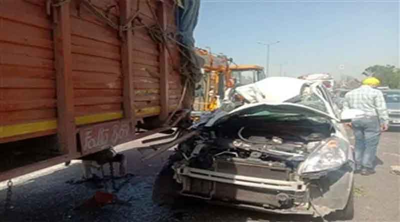 फगवाड़ा में कार और कैंटर में भीषण टक्कर, कार चालक की मौके पर मौत