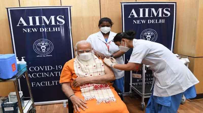 एम्स में प्रधानमंत्री मोदी ने ली कोरोना वैक्सीन की दूसरी डोज, ट्वीट करके दी जानकारी