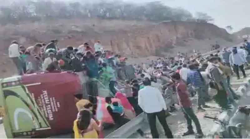 ग्वालियर में हुआ दर्दनाक हादसा, प्रवासी मजदूरों को लेकर जा रही बस पलटी, 3 की मौत कई घायल