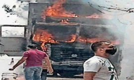 दर्दनाक सड़क हादसा, जालंधर-पठानकोट हाईवे पर टिप्पर में लगी भीषण आग, जिंदा जला ड्राइवर