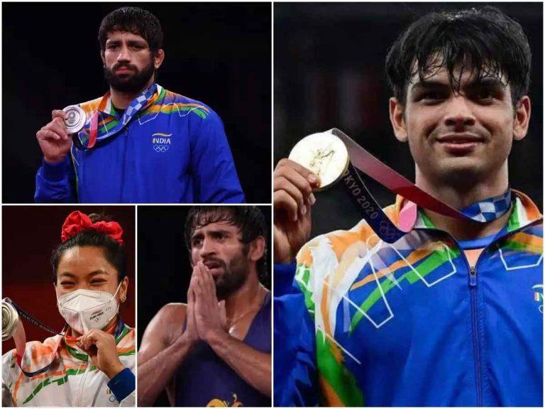 स्वर्ण पदक विजेता नीरज की जीत पर देशभर में जश्न, हो रही इनामों की बौछार, हरियाणा ने 6 तो पंजाब ने 2 करोड़ देने का किया ऐलान