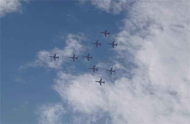 जालंधर में एरोबैटिक टीम सूर्यकिरण के विमानों का प्रदर्शन हुआ रद्द, आसमान में बादलों के नीचे होने की वजह से लिया फैसला