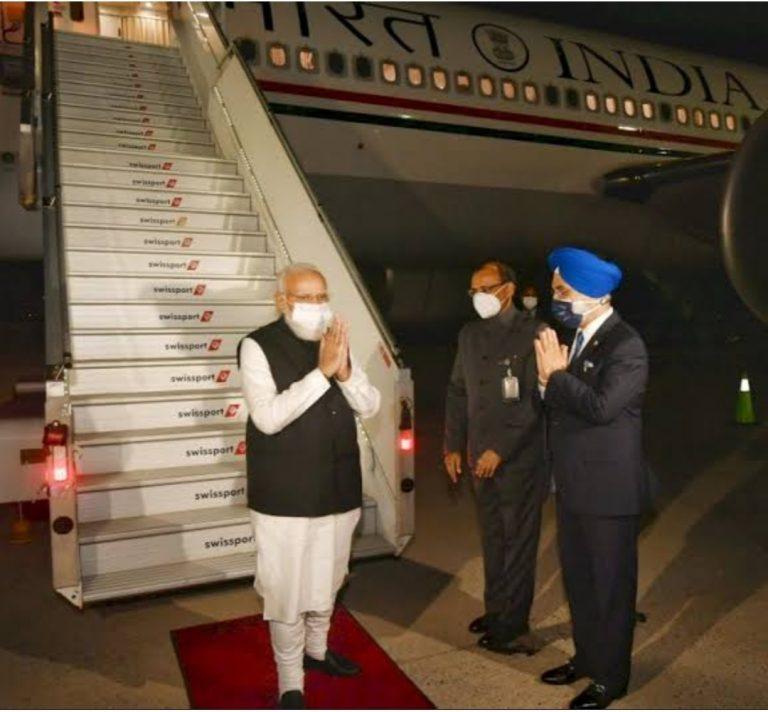 न्यूयॉर्क पहुंचे प्रधानमंत्री मोदी, संयुक्त राष्ट्र महासभा के 76वें अधिवेशन को करेंगे संबोधित