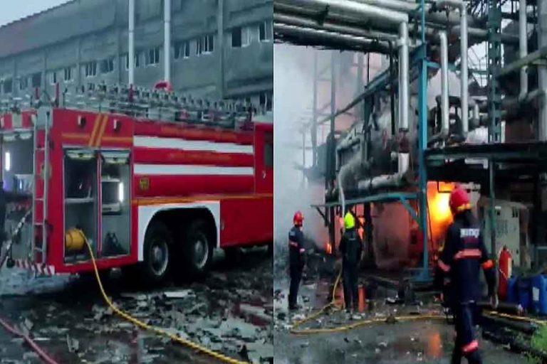 महाराष्ट्र के पालघर की टेक्सटाइल कपड़ा फैक्टरी में विस्फोट, भीषण आग से एक व्यक्ति की मौत, पांच घायल
