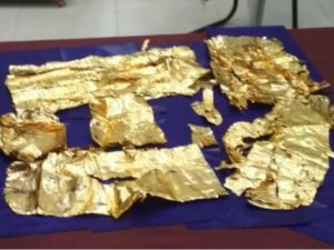 1 kg gold was recovered from a young man who returned from Dubai at Amritsar airport, a few days ago a 6 kg gold belt was recovered from a young man