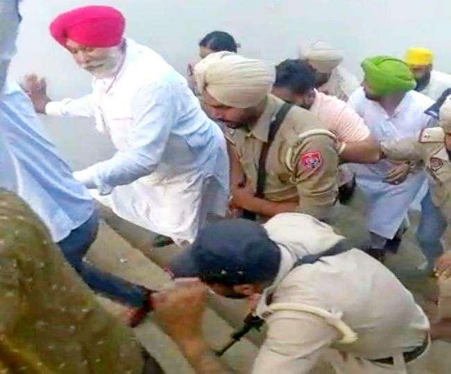 किसानों ने किया कांग्रेस विधायक बलविंदर लाडी पर पत्थरों से हमला, गुरुद्वारे में छिपकर बचाई जान